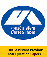 UIIC Assistant Previous Year Question Papers