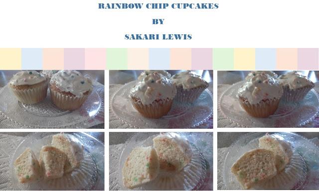 Rainbow Chip Cupcakes
