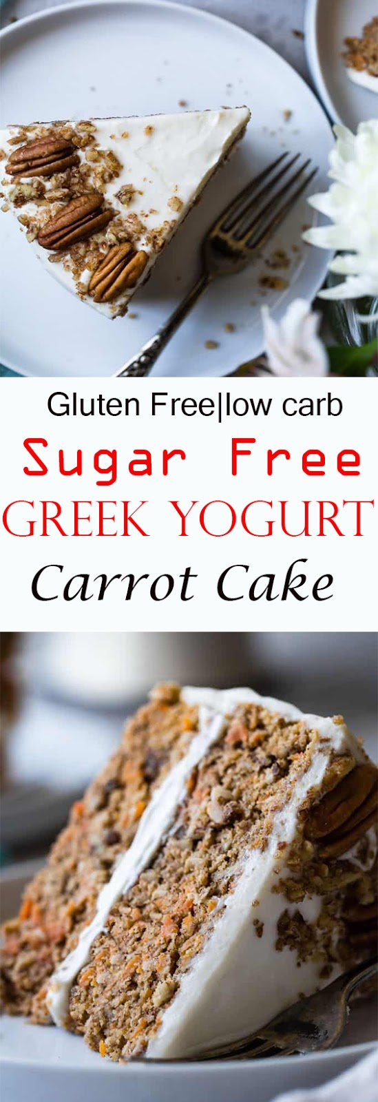 Healthy Gluten Free Sugar Free Carrot Cake