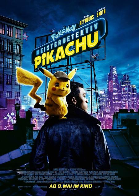 Film Detective Pikachu, Poster Film Detective Pokemon, Pokemon Live Action