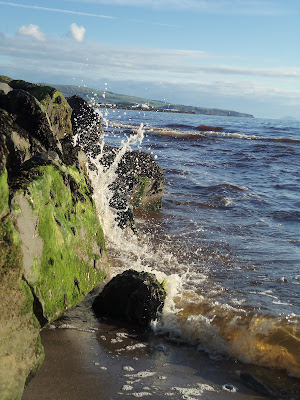 Prestwick Beach, Prestwick Golf Course, incoming tide