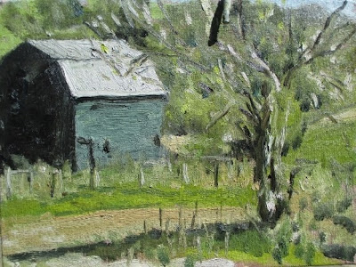 I Went Up Conley Rd Today Don T Know Why When Saw This Green Barn With The Sun And Shadow On It Said Paint Me
