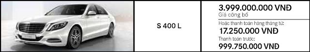 Giá xe Mercedes S400 L hấp dẫn thách thức mọi đối thủ
