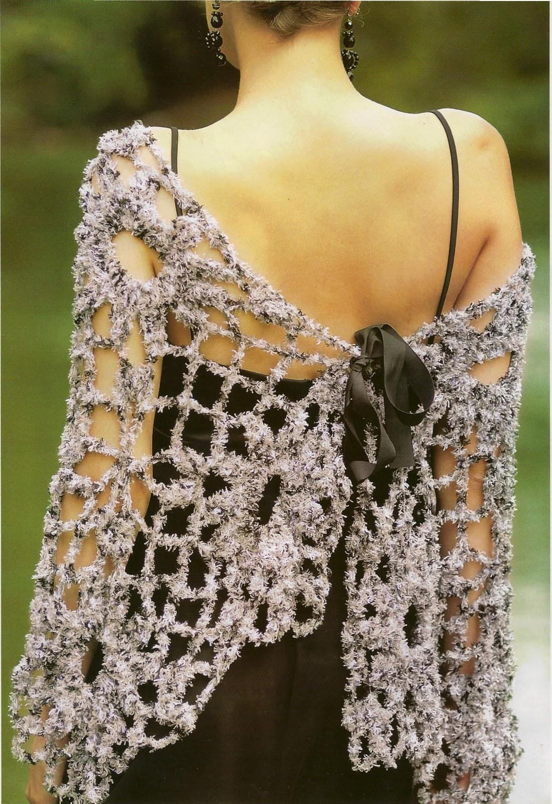 chal crochet, patrones tejidos, esquemas ganchillo