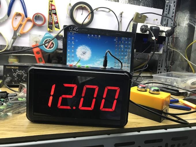 Đồng hồ led đếm ngược Phút : Giây Start - Reset Xanh Đỏ