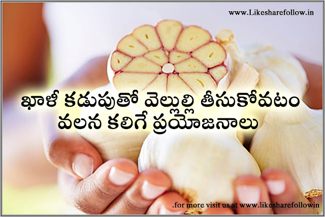 benefits of garlic having with empty stomach