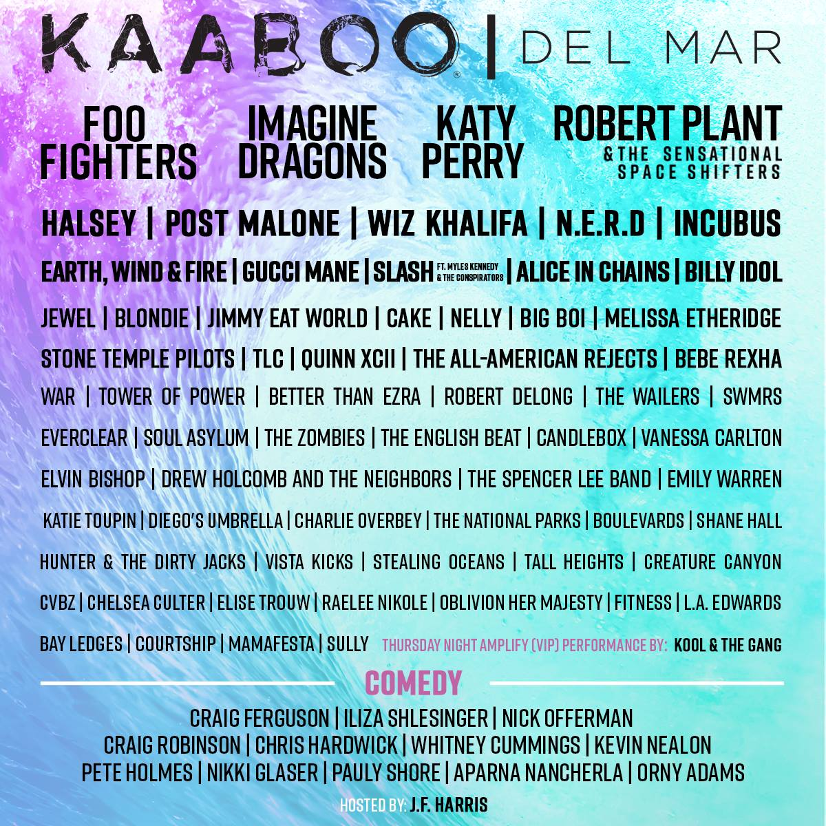 Don't Miss KAABOO Del Mar 2018 - September 14-16!