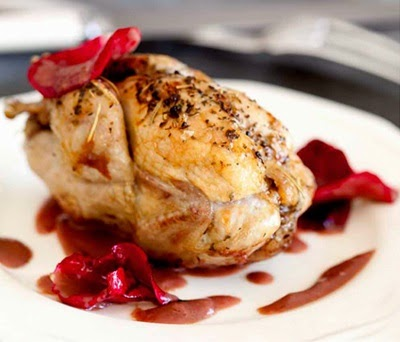 Roated Chicken with Rose Petal Sauce Recipe