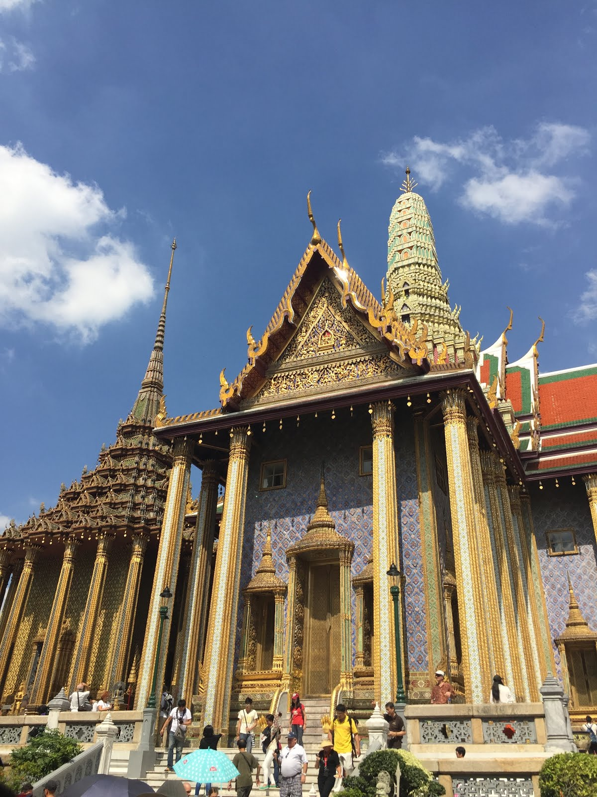 The intricate Grand Palace in Bangkok, Thailand