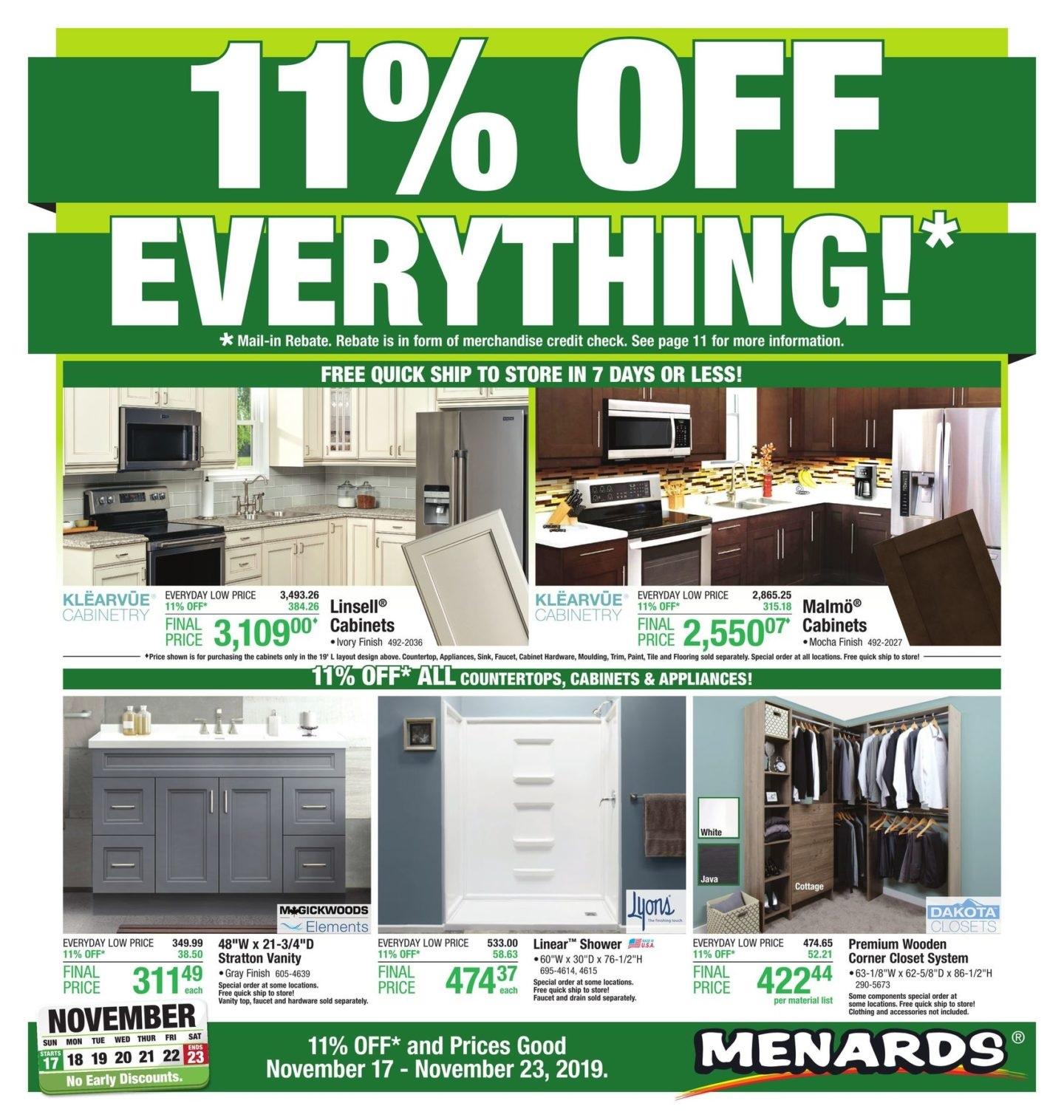 Menards Weekly Ad