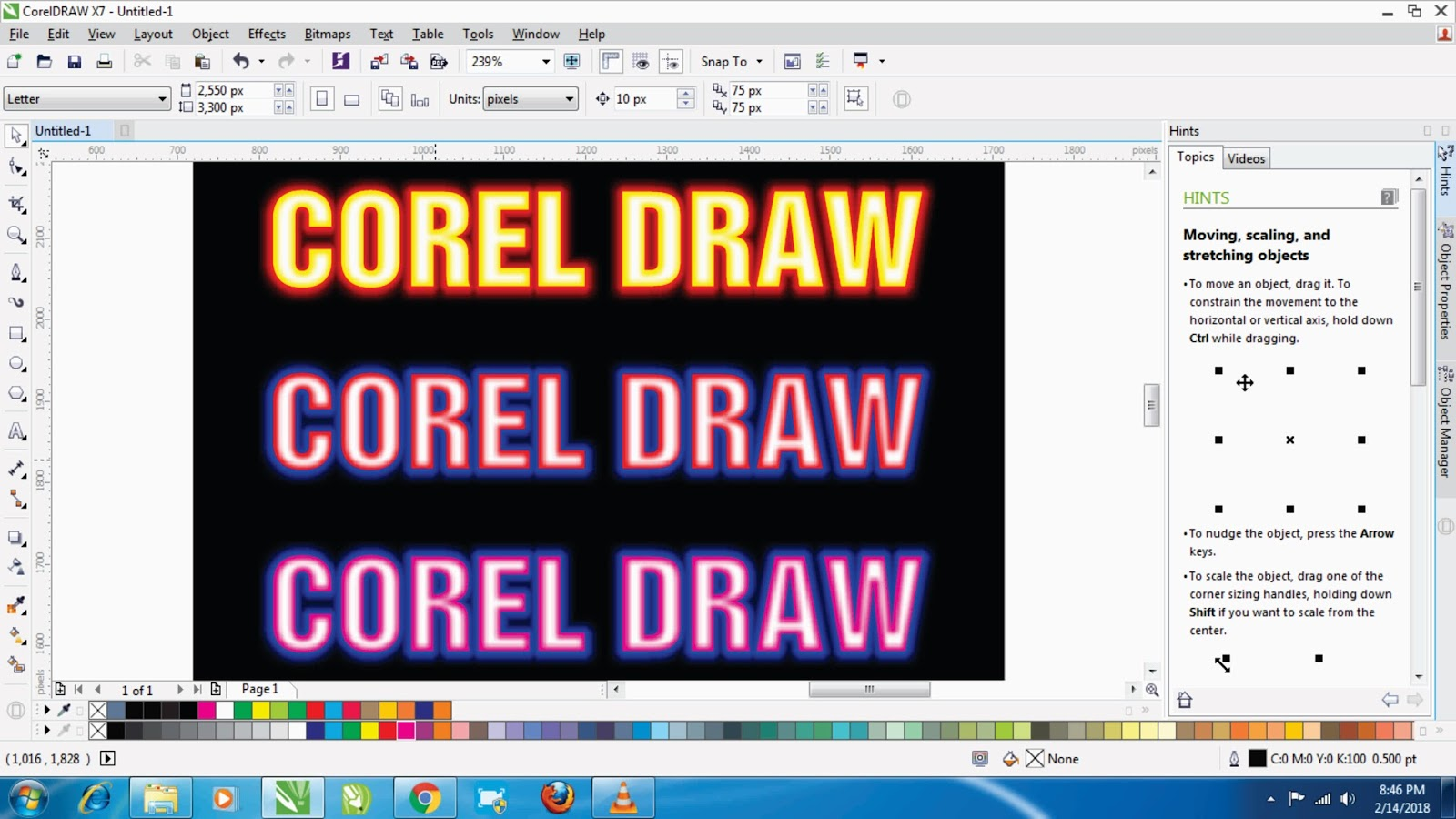 HOW TO CREATE LIGHT EFFECT IN COREL DRAW IN SIMPLY WAY