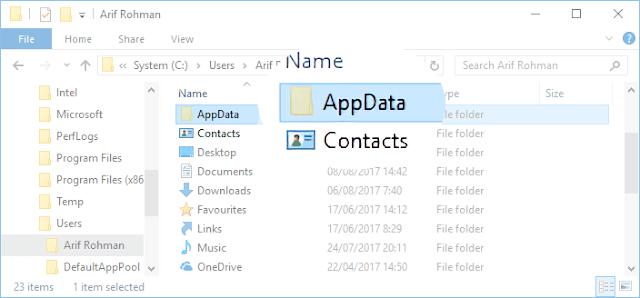 Apa itu folder AppData, letak dan cara membukanya