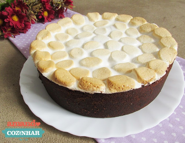 torta chocolate e marshmallow
