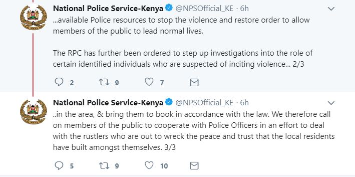 Kenya Police Statement On Turkana Kainuk Clashes