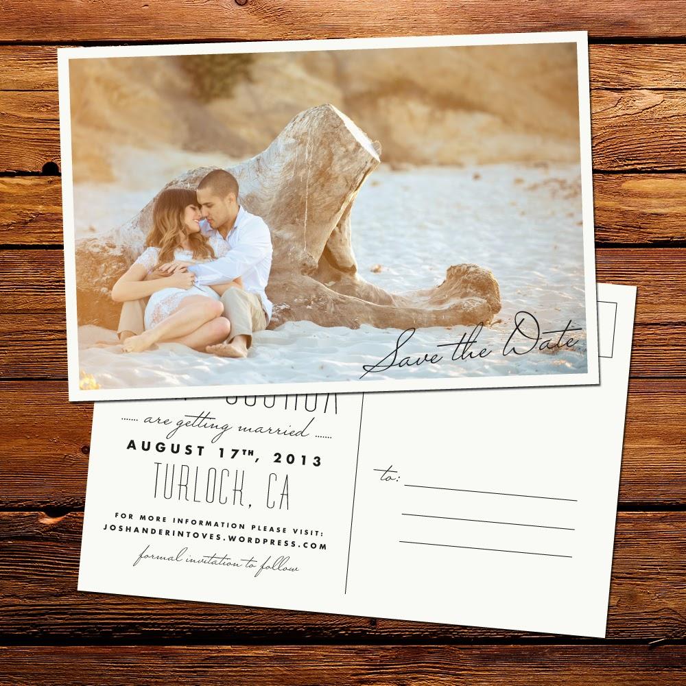 Thiệp cưới dạng Postcard lạ lẫm bắt mắt 2