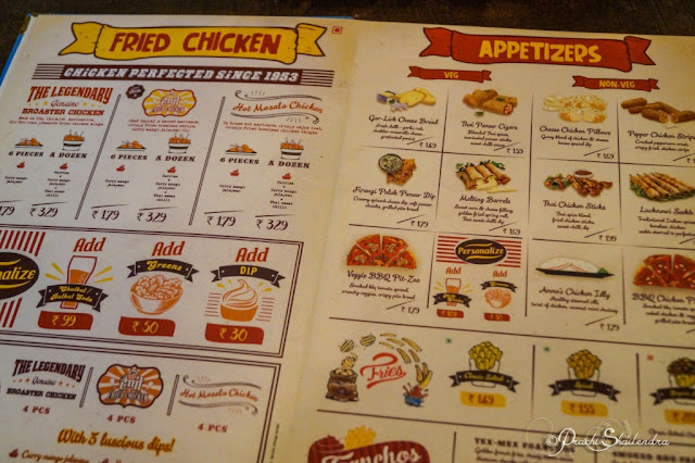 Genuine Broaster Chicken Menu India USA Mumbai