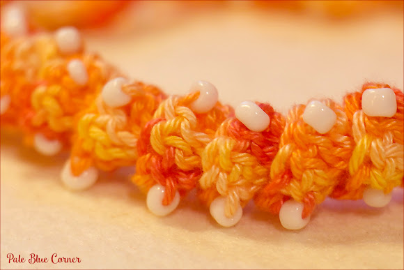 Curly Crochet Necklace with Beads