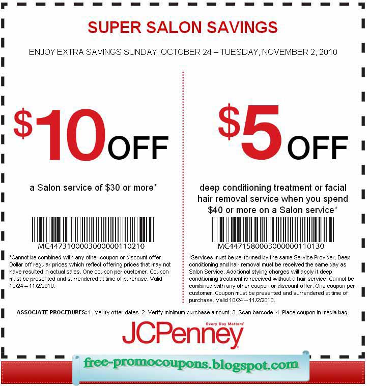 Coupons jcpenney printable 2018