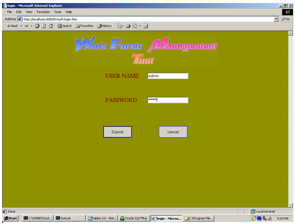 Training management system project in java, management and