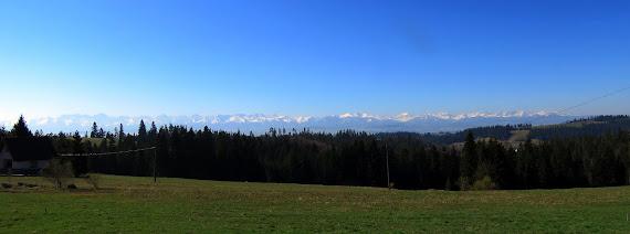 Panorama Tatr z Obidowej.