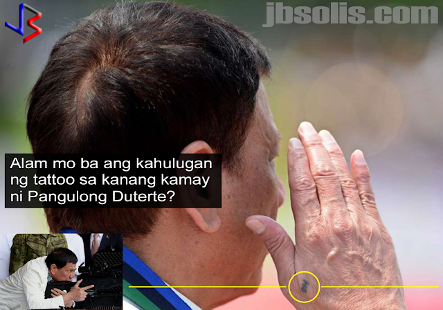 "President Duterte is so popular in the Philippines and around the world that he always appears on the TV daily. but have you ever noticed the tiny tattoo on Philippine President's right hand? He is the first ever Philippine head of state to sport a tattoo.  That tattoo on Duterte's right hand just below the fold of the thumb and index finger stands for the ""Magic Group"" of the Guardians Brotherhood. That's according to Duterte's presidential adviser on the peace process Jesus Dureza. ""It's a secret cult,"" Dureza jokingly said.  The facebook page for the Guardians say that as every letter of the acronym MAGIC has a meaning: M- stands for Magistrate, A – Advocator, G – Grievances, I – Impotent and C –Citizens. In Filipino, it translates to ""Mga Mahistradong Tagapagtanggol ng mga Naaapi at Walang Lakas na Mamamayan.""  Dureza is a former schoolmate of Duterte and is also a member of the same Magic Group, and having the same tattoo. ""We are members of Guardians Brotherhood. It's a fraternal group of people. It started as a military fraternal group. Then they got also civilians as members,"" Dureza explained. The first civilian members were mostly lawyers, like Dureza and Duterte.  What is the purpose of the President's tattoo?  Some members revealed that when Guardians secretly meet, they verified their identification to each other by showing the Guardian tattoo. Each sub-group has a different tattoo designating their circle of membership. Its placement also showed which area the member belonged.  Some famous members of the fraternity are Sen. Gregorio Honasan, Sen. Manny Pacquiao and Ret. Gen Danny Lim.  It is not surprising nowadays that world leaders are actually inked. Other leaders and even some members of Royal Families also sport tattoos. Here are some of them:  Prince Frederik Of Denmark Crown Prince Frederik has tattoos that are on display when he trades his formal attire for swimming trunks. The 48-year-old prince has a tattoo on his bicep and one on his calf. They both represent his time serving in the military.  UK Prime Minister Winston Churchill You might be surprised to know that the great Winston Churchill even sported some ink (though unverified by an actual image). This distinguished, and quite stubborn leader was the Prime Minister of England during World War II and had great influence over his country and the world. The purported tattoo was an image of an anchor tattooed on his arm. It is also said that his mother has a snake tattoo around her wrist.  Prime Minister Winston Churchill You might be surprised to know that the great Winston Churchill even sported some ink (though unverified by an actual image). This distinguished, and quite stubborn leader was the Prime Minister of England during World War II and had great influence over his country and the world. The purported tattoo was an image of an anchor tattooed on his arm. It is also said that his mother has a snake tattoo around her wrist.  US President Teddy Roosevelt America's own beloved Teddy Roosevelt had a tattoo of his family crest on his chest. Though that might not be surprising when you hear about his adventurous past as not only a wild cattle rancher and hunter but also as a war hero in the Spanish-American War.  US President Andrew Jackson Andrew Jackson, seventh President of the United States, spent plenty of time in the military. After losing his parents to disease and war at 14 years old, he grew up to be a wealthy plantation owner and served as colonel and major general in the War of 1812. To pay homage to his time in the military, he got a tattoo of a tomahawk on the inside of his thigh.  Canadian Prime Minister Justin Trudeau He is the 23rd and current Prime Minister of Canada and ranked as the 69th most powerful person in the world by Forbes. He is also the second youngest politician to ever become Prime Minister. Justin Trudeau has a long history of being in the public eye and is considered by many as a heart throb. He is a sports and yoga fanatic, thus it should come as no surprise that he has ink. His two tats are a globe and a raven.  Czar Nicholas II of Imperial Russia Even in the nineteenth-century, tattoos were a popular way to commemorate a significant experience in people's lives. For Nicholas II, the Czar of Imperial Russia, he too used tattoos as a way to remember special events. While the photo's quality makes it hard to see, he had a tattoo of a dragon which commemorated his time visiting Japan.  Princess Stéphanie of Monaco As the youngest daughter of Prince Rainier III of Monaco and the beautiful actress Princess Grace Kelly, Princess Stéphanie is working in Hollywood and the world of fashion for her career choice. Princess Stéphanie has many tattoos, including a dragon-vine ""S""on her back.  George V of England George V was King of the United Kingdom and British Dominions, and Emperor of India from 1910 to 1936. Before becoming King, however, he spent time traveling abroad the HMS Bacchante where, on a visit to Japan, he found a local tattoo artist and had him tattoo a red and blue dragon on his arm.  What do you think of President Duterte's ink? Do you know of any other world leader that has a tattoo? Let us know in the comments."