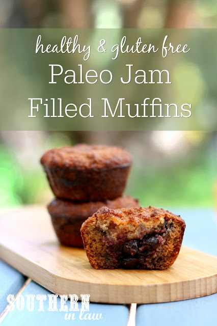 Healthy Paleo Jam Filled Muffins Recipe – gluten free, grain free, sugar free, healthy, breakfast, brunch, dessert, sweets