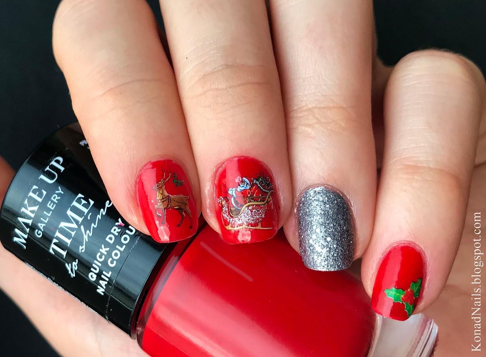 Konad Addict: Christmas manicure