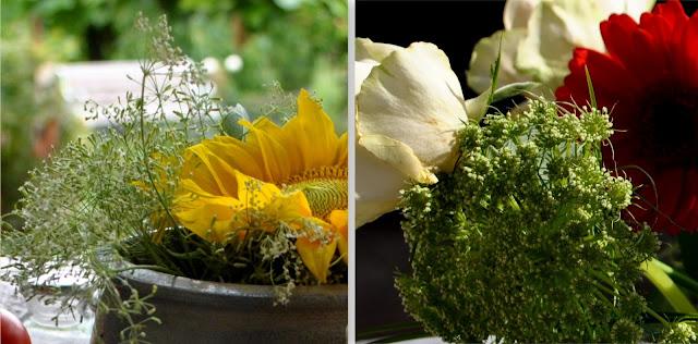 Sträuße mit Wiesenblumen