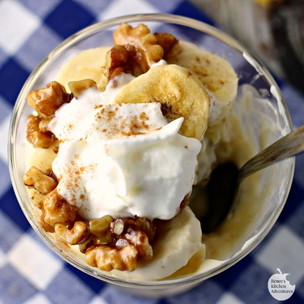 Banana Maple Walnut Yogurt Parfait | Renee's Kitchen Adventures: Easy, wholesome parfait makes a great dessert or anytime treat! #MullerMoment #ad