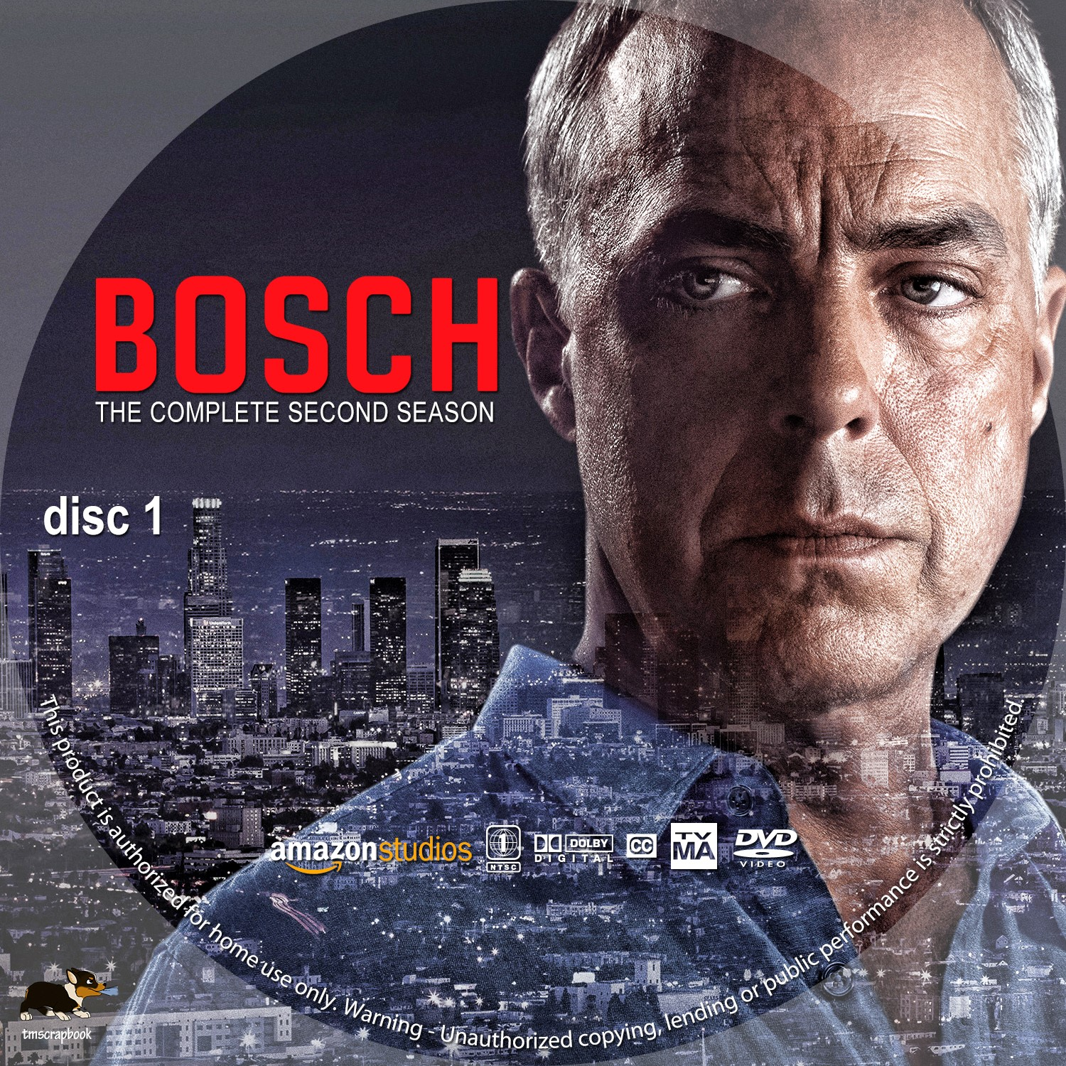 Bosch Season 2 Disc 1-3 DVD Label