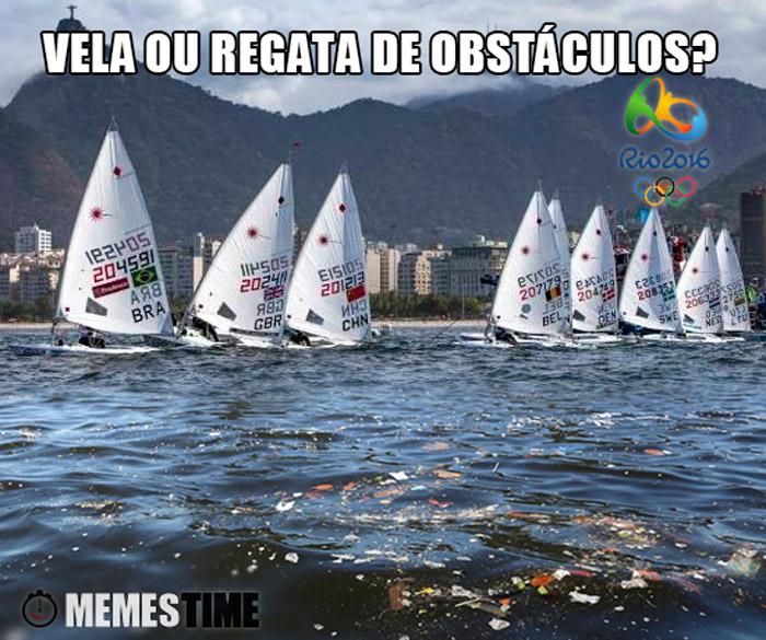 Memes Baia de Guanabara com poluição – Vela ou Regatas de Obstáculos?