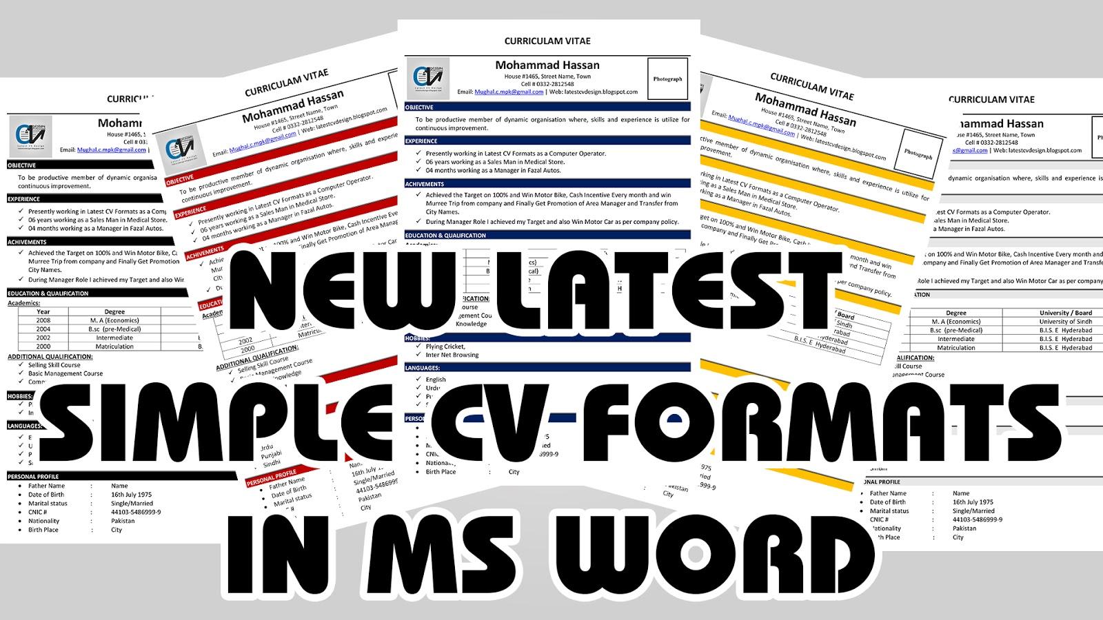 Latest CV Design