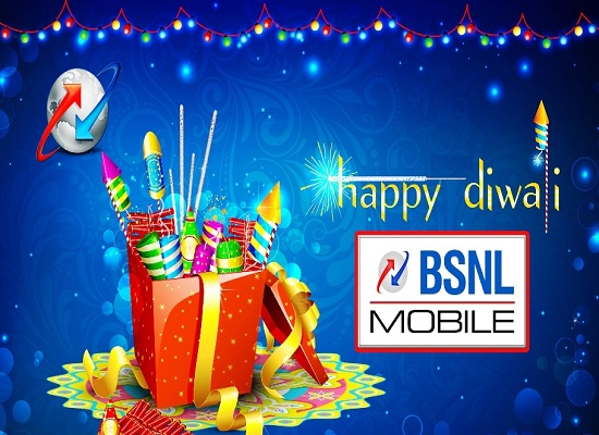 BSNL Diwali Offers 2016: Enjoy 10% extra free calls on prepaid Voice STVs - 159, 201, 359 & 449 from 15th October 2016 on PAN India basis