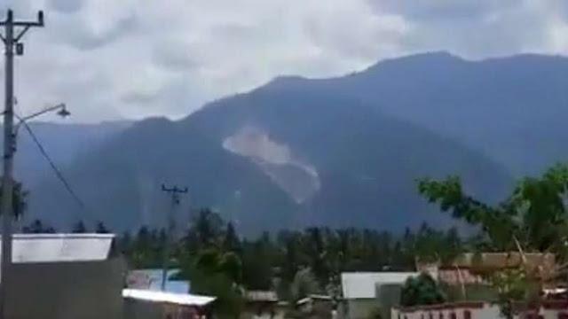 Video Bukit Terbelah akibat Gempa di Kabupaten Sigi Sulawesi Tengah