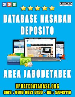 Jual Database Nasabah Deposito Jabodetabek