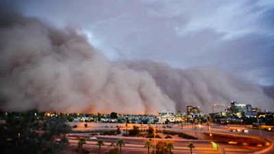 Time lapse ribut pasir di Arizona