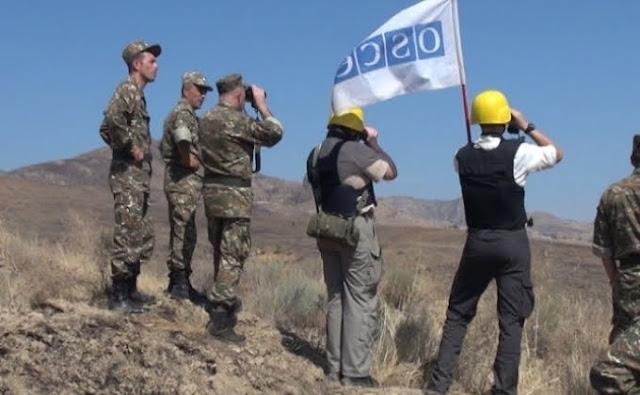 OSCE supervisó el estado del frontera Artsaj-Azerbaiyán