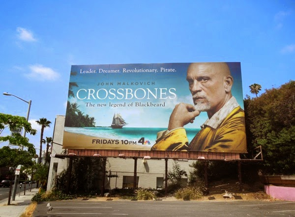 Crossbones series premiere billboard