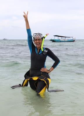 Artis Diver suka diving Ayudiya Bing Slamet