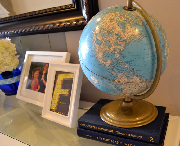Antique Globe in entryway