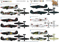 Hawker Hurricane MkIIc, 1/32 Fly models 32012 -  inbox review - schemes