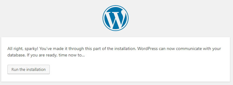 install WordPress in localserver