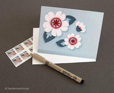 hand embroidered greeting cards by SeptemberHouse