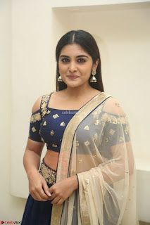 Niveda Thomas in Lovely Blue Cold Shoulder Ghagra Choli Transparent Chunni ~ Exclusive Celebrities Galleries 019