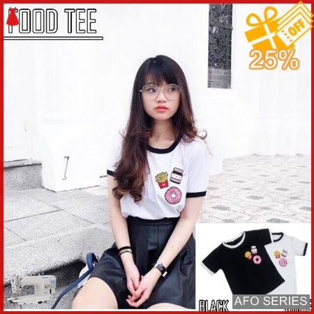 AFO087 Model Fashion Food Tee Modis Murah BMGShop