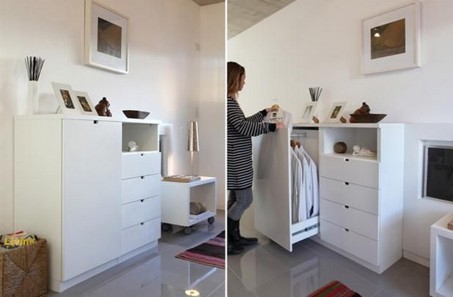 Muebles para guardar ropa pequenos for Muebles cocina pequenos espacios