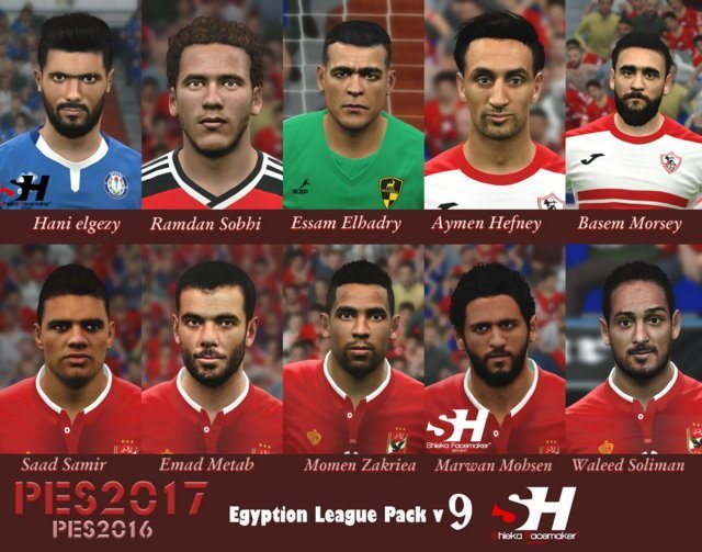 Egyption League Face PES 2017