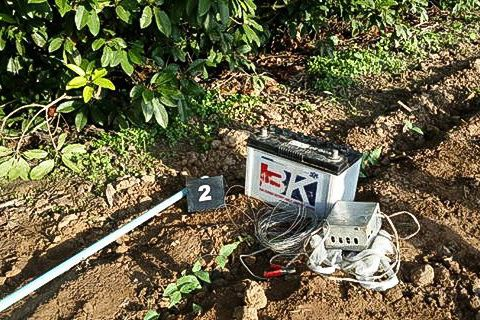 The electrical equipment linked to the death of a man, who came into contact with it as he attempted to shock rats. Photo supplied.