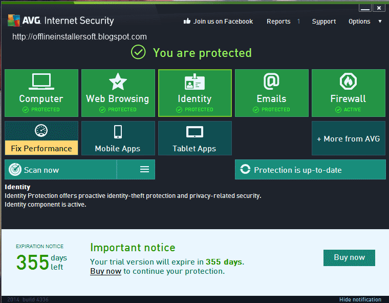 Does avg internet security include vpn