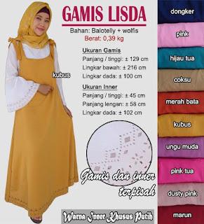 Baju Gamis overall cantik murah meriah - lisda